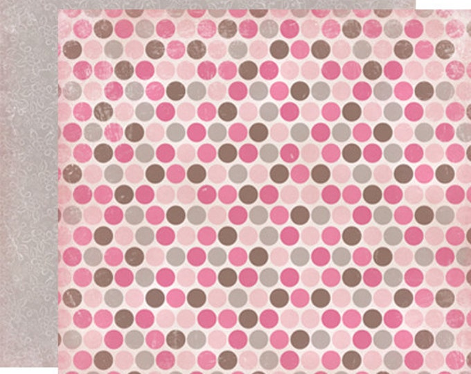 2 Sheets of Carta Bella PARIS GIRL 12x12 Textured Scrapbook Paper - French Dots
