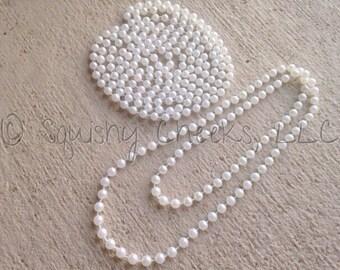 """Pearl Necklace, White Pearl Necklace, 20"""" Pearl Necklace, Baby Necklace Photo Prop, Bulk Wholesale, Woman Faux Pearl Necklace"""