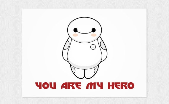 You are my hero card Birthday card instant download Funny – Birthday Card Pdf