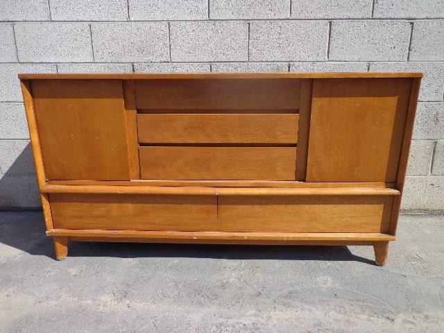 mid century modern tv media console cabinet buffet server