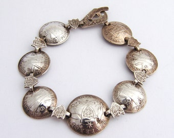 Australian Silver Coin Bracelet