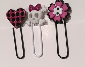 Girly bookmarks (set of 8)