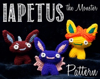 Iapetus the Monster Crochet PATTERN