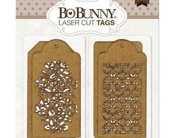 Bo Bunny Laser Cut Chipboard Tags Trellis