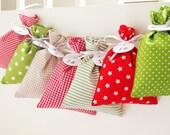 Countdown till Christmas advent calendar bags red green and white Christmas Fabric advent calendars for kids advent 2015