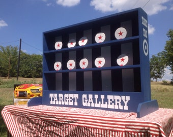 Nerf tabletop Shooting Gallery Carnival Game for Birthday, Church, VBS or School Party