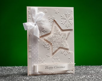 Handmade White Christmas Cards