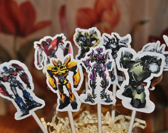 Transformers Prime Cupcake Toppers Set of 12