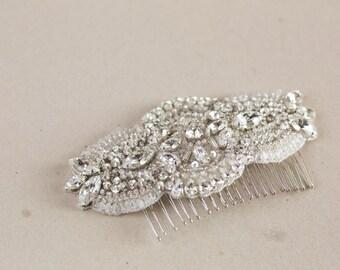 Small bridal hair comb - Laces comb