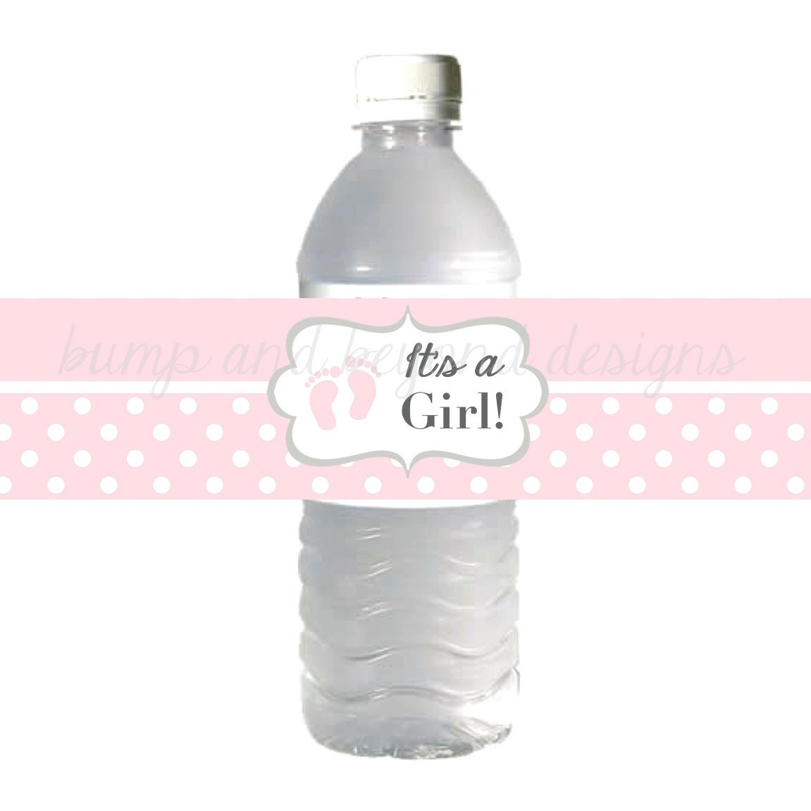 water bottle labels baby feet it 39 s a girl baby shower
