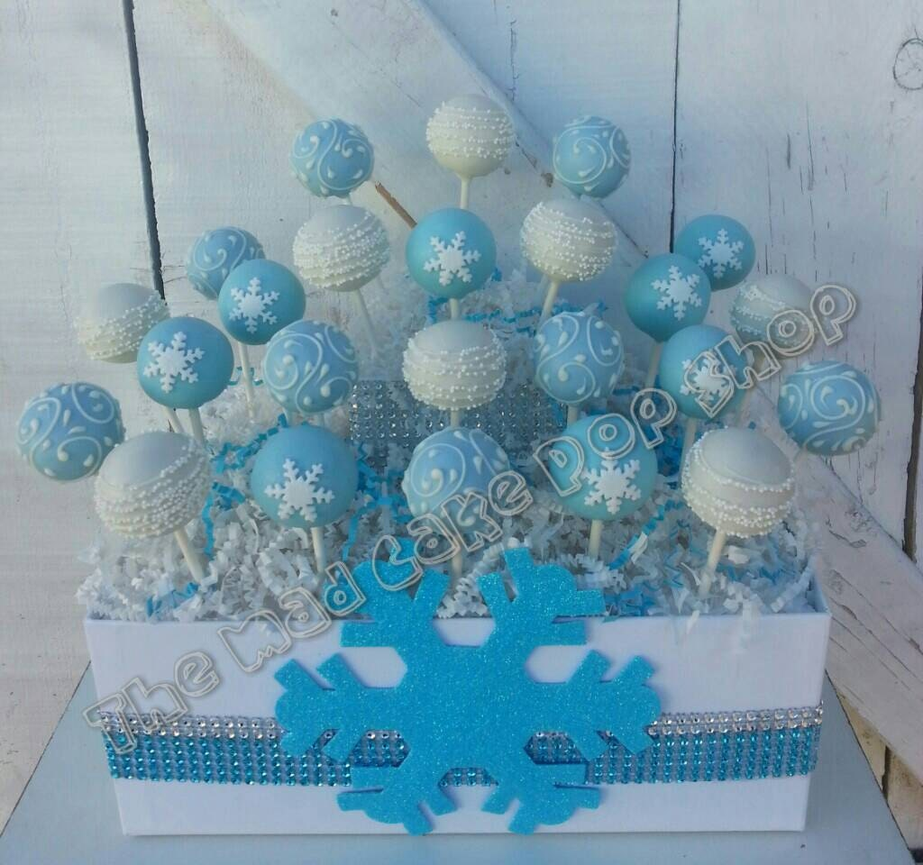 Winter Wonderland Cake Pops 1 Dz Snowflake By