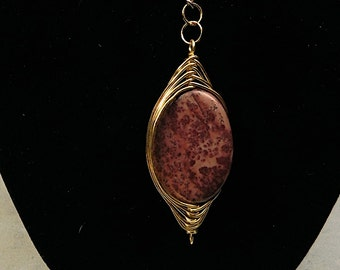 Crazy horse jasper pendant on chain