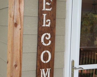 """Wormy Chestnut """"Welcome sign"""""""