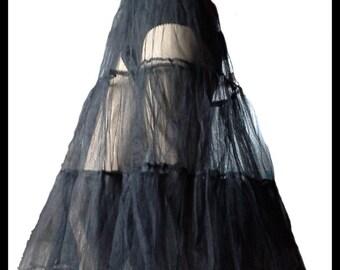 black rockabilly petticoat