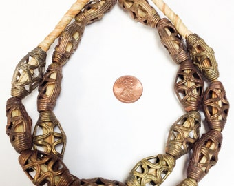 Africa tribe strand of brass beads