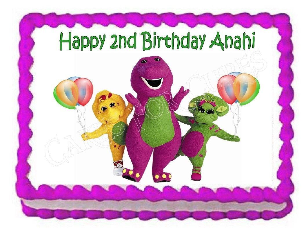 Barney Birthday Sheet Cake