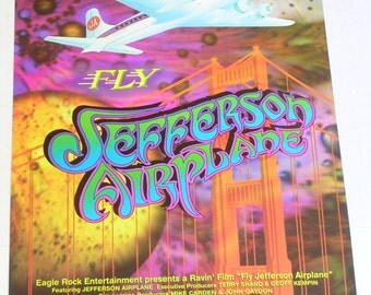 FLY JEFFERSON AIRPLANE poster by Randy Tuten