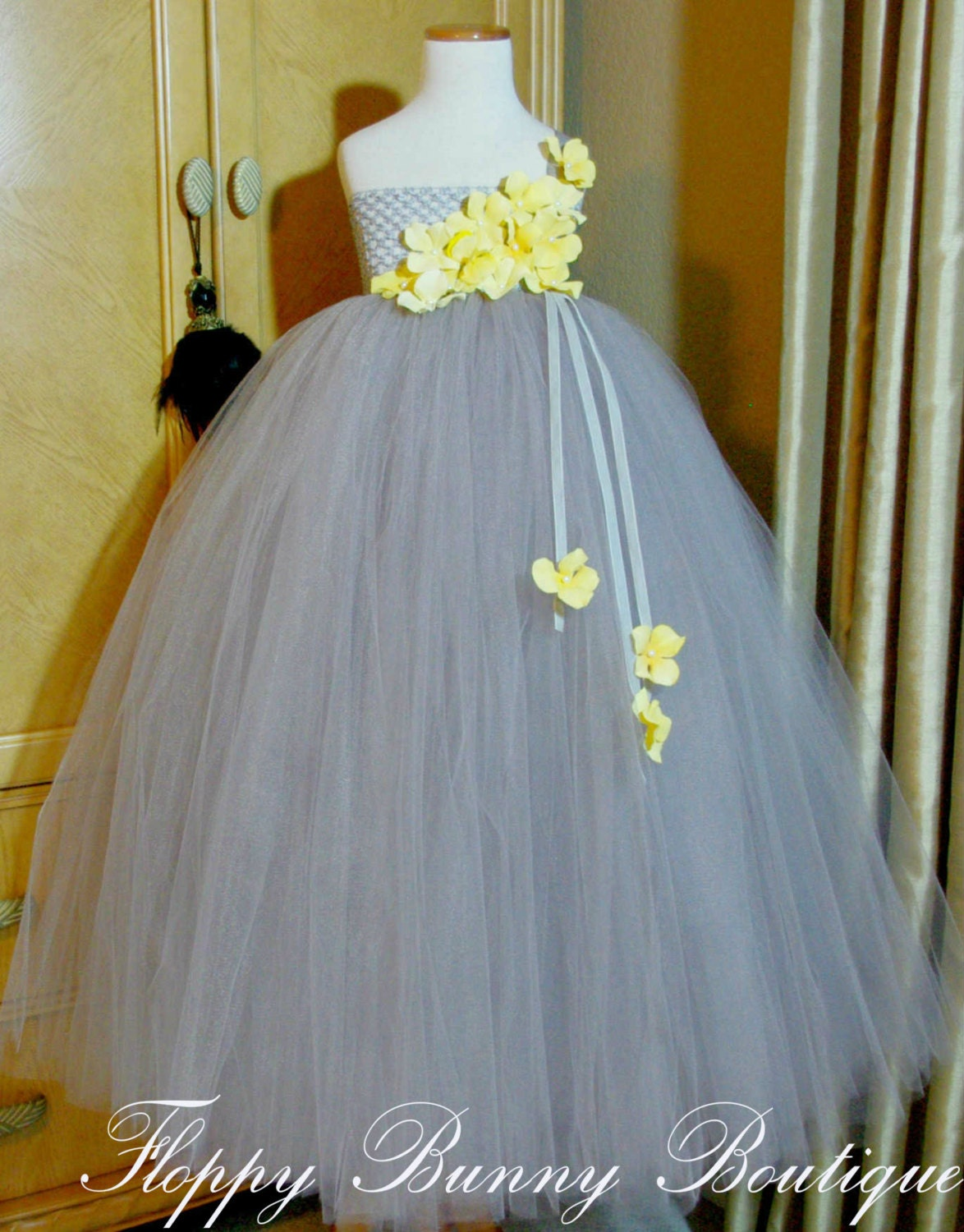 Flower Girl Dresses Gray And Yellow Wedding Dresses In Jax