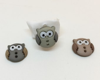 Owl FRONT-MOUNTED cell phone charm, dust plug charm