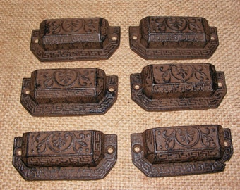 Cast Iron Small Drawer Pull Handle SET OF 12 Furniture Hardware Primitive #307