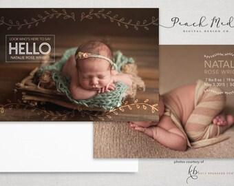 DIY - Birth Announcement | Photo Templates | Design 010