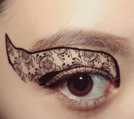 Temporary tattoo black swan eyeshadow makeup botanic black for Eyeliner tattoo mn