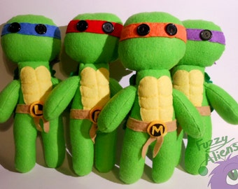 Teenage Mutant Ninja Turtle Plushies (Full Set)