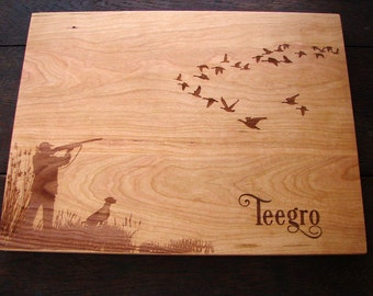 Duck Hunting Personalized Cutting Board Gift Host and Hostes Gift Lake House Anniversary Father's Day Present Holiday Christmas Gift for Him