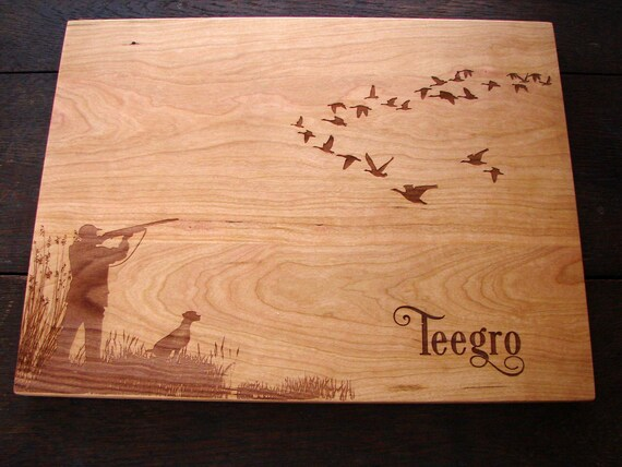 Duck Hunting Personalized Cutting Board Gift Host And Hostes
