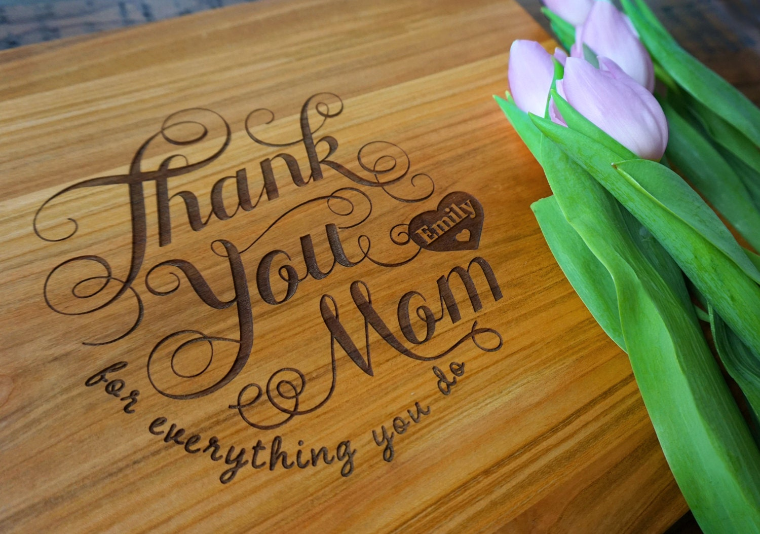 Personalized mother 39 s day cutting board thank you mom for Mother s day gift for mother in law