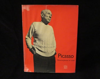 Vintage 1971 Picasso art book / vintage art book cubism / modern art book / French art book / collectible art book / French art book