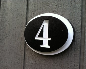 House Number Plaque -- Custom Numbers for Home - Custom Carved Signs