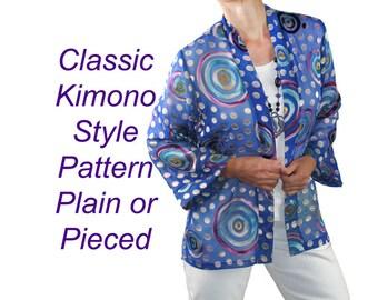 Pagoda Jacket Pattern, Haori or Kimono Sewing Pattern, BSS160