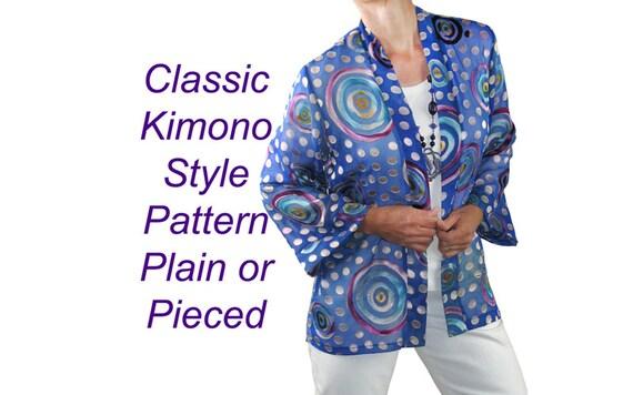 Patron couture veste kimono femme