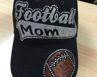 Football Mom Cap, Football Mom rhinestone Hat, Football Hat