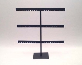 Earring Stand, Earring Display, Earring Organizer, Black Earring Stand, Black Earring Display, Black Steel Jewelry Display, Black Stand 037