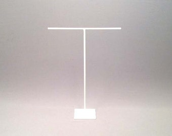 White Necklace Stand, White Jewelry Display, White, Jewelry Stand, White Steel Stand, White Steel Display, White Necklace Display 053