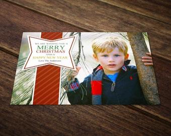 Christmas Card Templates for Photographers - Holiday Card Templates - Photoshop Postcard Templates PSD - Photo Greeting Card CC025