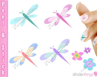 Dragonfly Dragonflies Nail Art Decal Sticker Set DGN901