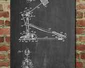 Drum Kick Pedal Poster, Gifts for Drummer, Bass Drum Pedal, Drum Decor, Kick Pedal Blueprint, PP104