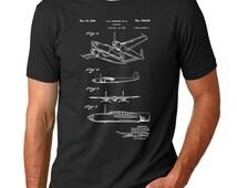 XP-58 Chain Lightning Airplane Patent T Shirt, Aviation Gift, Plane Shirt, Airplane T-shirt, PP69