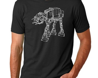 Star Wars AT-AT Walker Patent T Shirt, Star Wars Shirt, Starwars Shirt, Star Wars Gifts, PP0534