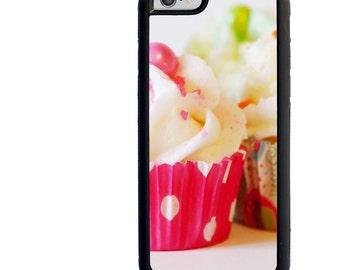 Cupcake Phone Case, iPhone 5 5s 6 6s 6+ 6s+ SE 7 7+ iPod 5 6 Case, Dessert, Icing, Plus