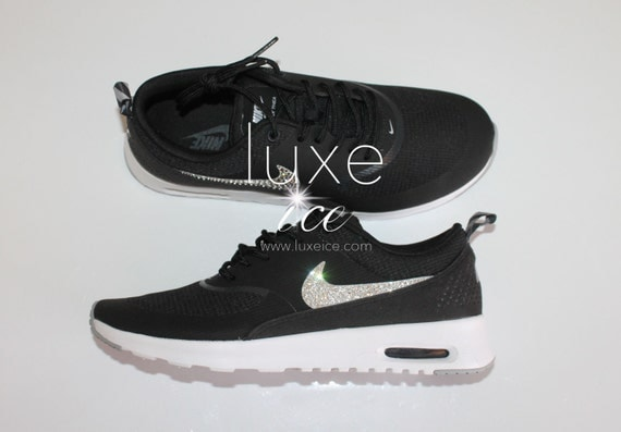 nike damen air max thea swarovski elements von luxeice auf. Black Bedroom Furniture Sets. Home Design Ideas