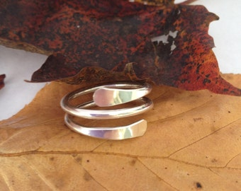 Sterling Silver Wrap Around Ring .925 Silver Simple and Ready to Ship