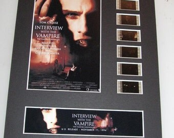 Interview with the Vampire 1994 Anne Rice Brad Pitt Tom Cruise Frame Ready Matted Movie 35mm Film Cells Standard Series 8x10 Display