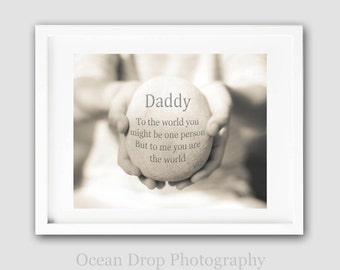 Father's Day Gift, Daddy Gift, Daddy Quote Print, Gift for Dad, Dad Quote, Gift for him, Father Art Print, Daddy Typography Print 8x10