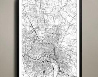 Richmond City Map - Richmond City Poster - Richmond City Print - Richmond Map - Richmond Map Print - Richmond Poster - Map of Richmond City