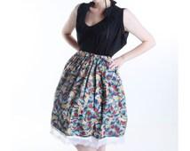 Elegant lolita style skirt - Dancing Cranes Skirt