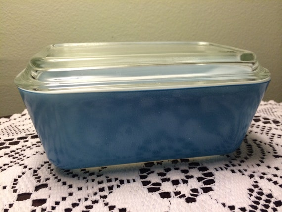Vintage Pyrex Primary Blue Refrigerator Dish Loaf By